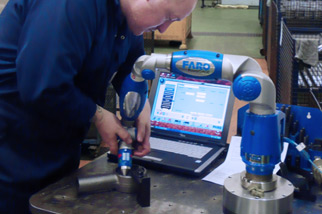 cmm faro arm inspection of forgings